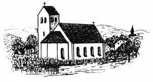 Zeichnung Kirche Graustufen